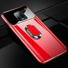 Xiaomi Redmi 10X Pro 5G用ハードケース プラスチック 質感もマット アンド指輪 マグネット式 A01 Xiaomi レッド