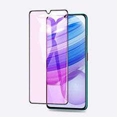Xiaomi Redmi 10X Pro 5G用強化ガラス フル液晶保護フィルム アンチグレア ブルーライト Xiaomi ブラック