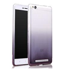 Xiaomi Redmi 3用極薄ソフトケース グラデーション 勾配色 クリア透明 Xiaomi グレー