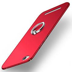 Xiaomi Redmi 3用ハードケース プラスチック 質感もマット アンド指輪 Xiaomi レッド