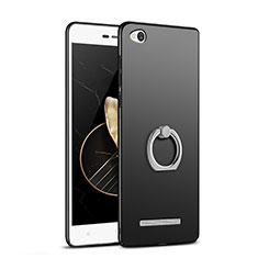 Xiaomi Redmi 3用ハードケース プラスチック 質感もマット アンド指輪 Xiaomi ブラック