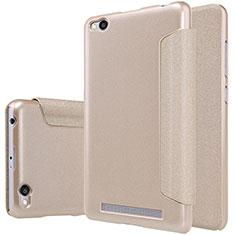 Xiaomi Redmi 3用手帳型 レザーケース スタンド Xiaomi ゴールド