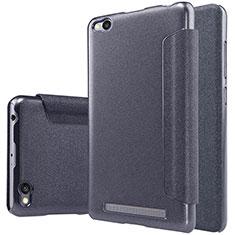 Xiaomi Redmi 3用手帳型 レザーケース スタンド Xiaomi ブラック