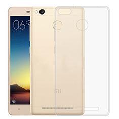 Xiaomi Redmi 3S用極薄ソフトケース シリコンケース 耐衝撃 全面保護 クリア透明 Xiaomi クリア