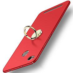 Xiaomi Redmi 3S Prime用ハードケース プラスチック 質感もマット アンド指輪 A02 Xiaomi レッド