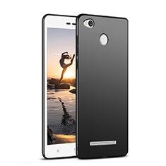 Xiaomi Redmi 3X用ハードケース プラスチック 質感もマット M02 Xiaomi ブラック