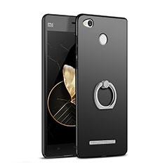 Xiaomi Redmi 3X用ハードケース プラスチック 質感もマット アンド指輪 Xiaomi ブラック