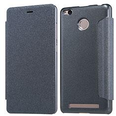 Xiaomi Redmi 3X用手帳型 レザーケース スタンド Xiaomi ブラック