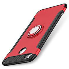 Xiaomi Redmi 3X用ハイブリットバンパーケース プラスチック アンド指輪 兼シリコーン Xiaomi レッド