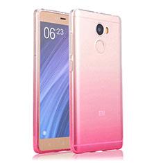 Xiaomi Redmi 4 Standard Edition用極薄ソフトケース グラデーション 勾配色 クリア透明 Xiaomi ピンク