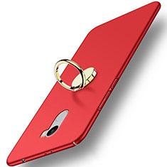 Xiaomi Redmi 4 Standard Edition用ハードケース プラスチック 質感もマット アンド指輪 Xiaomi レッド