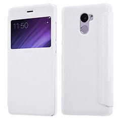 Xiaomi Redmi 4 Standard Edition用手帳型 レザーケース スタンド Xiaomi ホワイト
