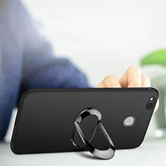 Xiaomi Redmi 4A用極薄ソフトケース シリコンケース 耐衝撃 全面保護 アンド指輪 Xiaomi ブラック