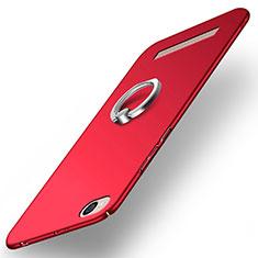 Xiaomi Redmi 4A用ハードケース プラスチック 質感もマット アンド指輪 Xiaomi レッド