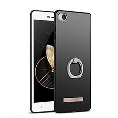 Xiaomi Redmi 4A用ハードケース プラスチック 質感もマット アンド指輪 Xiaomi ブラック