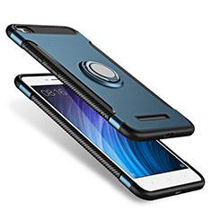 Xiaomi Redmi 4A用ハイブリットバンパーケース プラスチック アンド指輪 兼シリコーン Xiaomi ネイビー