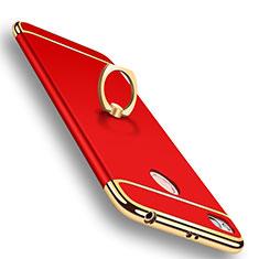 Xiaomi Redmi 4X用ケース 高級感 手触り良い メタル兼プラスチック バンパー M01 Xiaomi レッド
