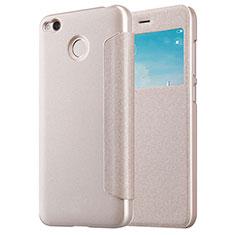 Xiaomi Redmi 4X用手帳型 レザーケース スタンド Xiaomi ゴールド