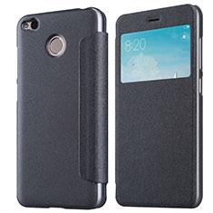 Xiaomi Redmi 4X用手帳型 レザーケース スタンド Xiaomi ブラック
