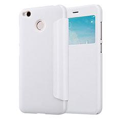 Xiaomi Redmi 4X用手帳型 レザーケース スタンド Xiaomi ホワイト