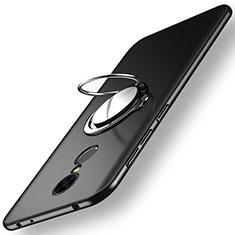 Xiaomi Redmi 5用ハードケース プラスチック 質感もマット アンド指輪 Xiaomi ブラック