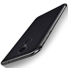 Xiaomi Redmi 5 Plus用極薄ソフトケース シリコンケース 耐衝撃 全面保護 クリア透明 H02 Xiaomi ブラック