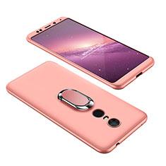 Xiaomi Redmi 5 Plus用ハードケース プラスチック 質感もマット 前面と背面 360度 フルカバー アンド指輪 Xiaomi ローズゴールド