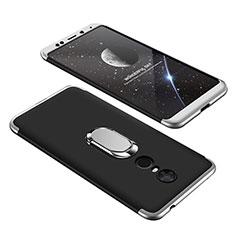 Xiaomi Redmi 5 Plus用ハードケース プラスチック 質感もマット 前面と背面 360度 フルカバー アンド指輪 Xiaomi シルバー