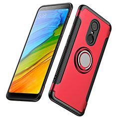 Xiaomi Redmi 5 Plus用ハイブリットバンパーケース プラスチック アンド指輪 兼シリコーン Xiaomi レッド