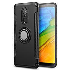 Xiaomi Redmi 5 Plus用ハイブリットバンパーケース プラスチック アンド指輪 兼シリコーン Xiaomi ブラック