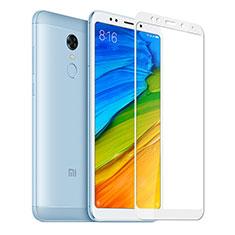 Xiaomi Redmi 5 Plus用強化ガラス フル液晶保護フィルム Xiaomi ホワイト