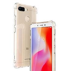 Xiaomi Redmi 6用極薄ソフトケース シリコンケース 耐衝撃 全面保護 クリア透明 T06 Xiaomi クリア
