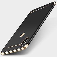 Xiaomi Redmi 6 Pro用ケース 高級感 手触り良い メタル兼プラスチック バンパー M01 Xiaomi ブラック