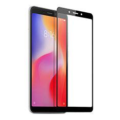 Xiaomi Redmi 6A用強化ガラス フル液晶保護フィルム Xiaomi ブラック