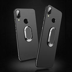 Xiaomi Redmi 7用極薄ソフトケース シリコンケース 耐衝撃 全面保護 アンド指輪 マグネット式 Xiaomi ブラック