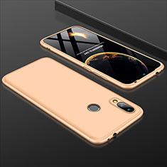 Xiaomi Redmi 7用ハードケース プラスチック 質感もマット 前面と背面 360度 フルカバー Xiaomi ゴールド