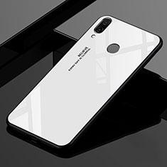 Xiaomi Redmi 7用ハイブリットバンパーケース プラスチック 鏡面 虹 グラデーション 勾配色 カバー Xiaomi ホワイト