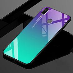 Xiaomi Redmi 7用ハイブリットバンパーケース プラスチック 鏡面 虹 グラデーション 勾配色 カバー Xiaomi グリーン