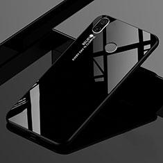 Xiaomi Redmi 7用ハイブリットバンパーケース プラスチック 鏡面 虹 グラデーション 勾配色 カバー Xiaomi ブラック