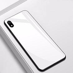 Xiaomi Redmi 7A用ハイブリットバンパーケース プラスチック 鏡面 カバー Xiaomi ホワイト