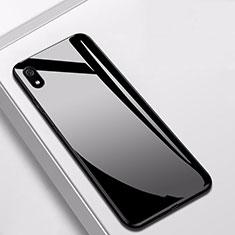 Xiaomi Redmi 7A用ハイブリットバンパーケース プラスチック 鏡面 カバー Xiaomi ブラック