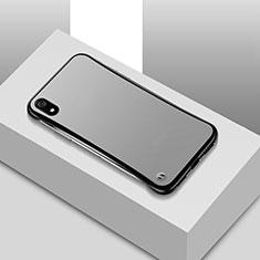 Xiaomi Redmi 7A用極薄ケース クリア透明 プラスチック 質感もマットU01 Xiaomi ブラック