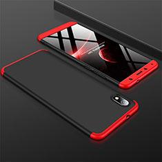 Xiaomi Redmi 7A用ハードケース プラスチック 質感もマット 前面と背面 360度 フルカバー Xiaomi レッド・ブラック