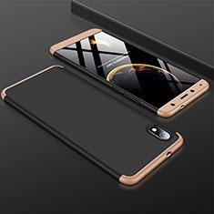 Xiaomi Redmi 7A用ハードケース プラスチック 質感もマット 前面と背面 360度 フルカバー Xiaomi ゴールド・ブラック