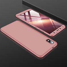 Xiaomi Redmi 7A用ハードケース プラスチック 質感もマット 前面と背面 360度 フルカバー Xiaomi ローズゴールド