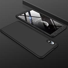 Xiaomi Redmi 7A用ハードケース プラスチック 質感もマット 前面と背面 360度 フルカバー Xiaomi ブラック