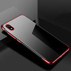 Xiaomi Redmi 7A用極薄ソフトケース シリコンケース 耐衝撃 全面保護 クリア透明 H01 Xiaomi レッド