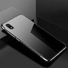 Xiaomi Redmi 7A用極薄ソフトケース シリコンケース 耐衝撃 全面保護 クリア透明 H01 Xiaomi ブラック