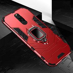 Xiaomi Redmi 8用ハイブリットバンパーケース プラスチック アンド指輪 マグネット式 S01 Xiaomi レッド