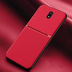 Xiaomi Redmi 8A用360度 フルカバー極薄ソフトケース シリコンケース 耐衝撃 全面保護 バンパー S01 Xiaomi レッド